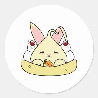 Vanilla Hopdrop Sundae Round Stickers