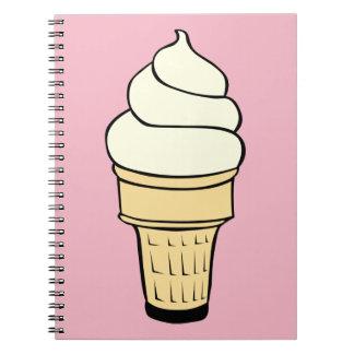 Vanilla Ice Cream Cone Notebook