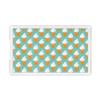 Vanilla Ice Cream Cone Pattern Acrylic Tray