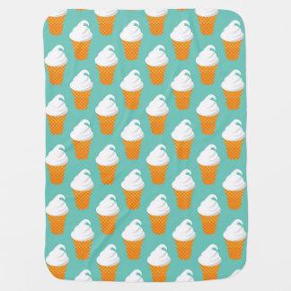 Vanilla Ice Cream Cone Pattern Baby Blanket