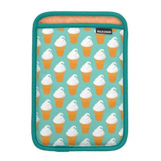 Vanilla Ice Cream Cone Pattern iPad Mini Sleeve
