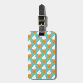 Vanilla Ice Cream Cone Pattern Luggage Tag