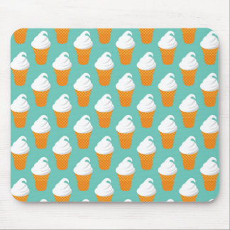 Vanilla Ice Cream Cone Pattern Mouse Mat