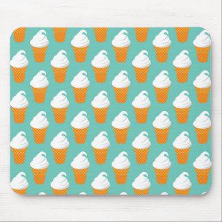 Vanilla Ice Cream Cone Pattern Mouse Pad