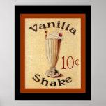 Vanilla Shake Vintage Ad Poster 16 x 20