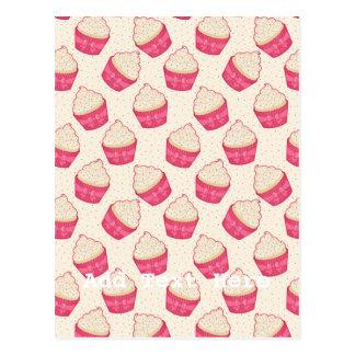 Vanilla Sprinkle Cupcake Pattern Post Card