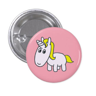 Vanillo the Unicorn pink badge