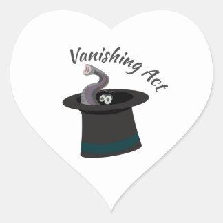 Vanishing Act Heart Sticker