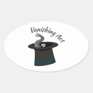 Vanishing Act Oval Sticker