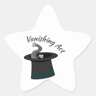 Vanishing Act Star Sticker