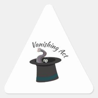 Vanishing Act Triangle Sticker