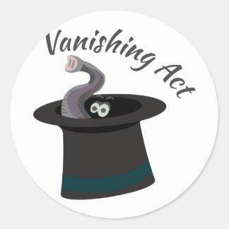 Vanishing Act Classic Round Sticker