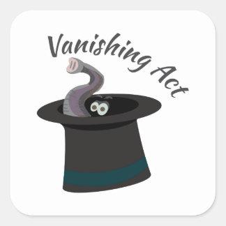 Vanishing Act Square Sticker