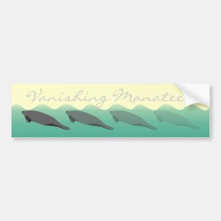 Vanishing Manatees bumper sticker