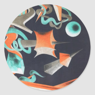 Vanishing Shapes I Round Sticker