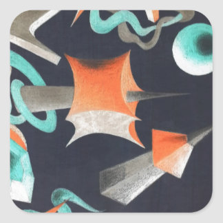 Vanishing Shapes I Square Sticker