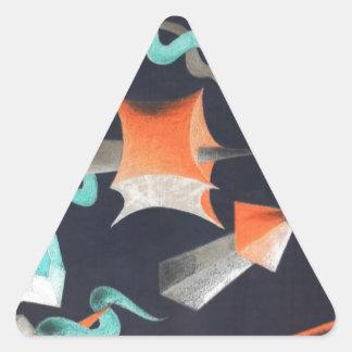 Vanishing Shapes I Triangle Sticker