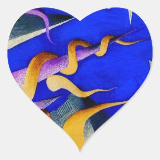 Vanishing Shapes II Heart Sticker