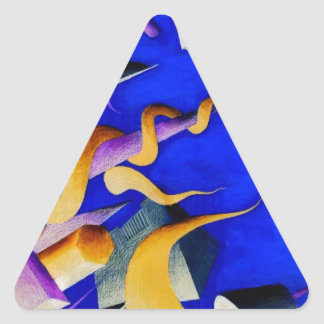 Vanishing Shapes II Triangle Sticker