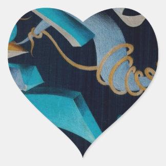 Vanishing Shapes III Heart Sticker