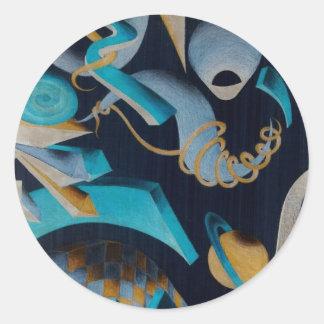 Vanishing Shapes III Round Sticker