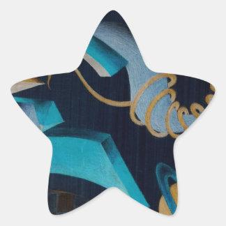 Vanishing Shapes III Star Sticker