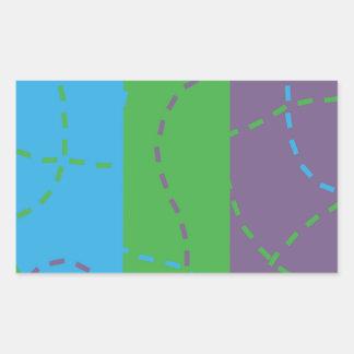 Vanishing Trails B/P/G Rectangular Sticker