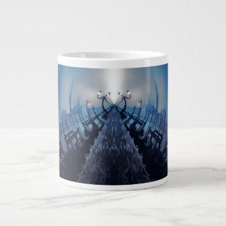 VANISHING VENICE Blue Future Gothic Gondolas Giant Coffee Mug