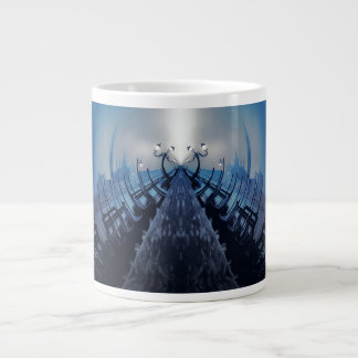 VANISHING VENICE Blue Gothic Gondolas Large Coffee Mug