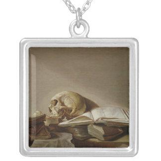 Vanitas 2 silver plated necklace