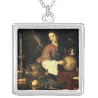 Vanitas, c.1634 silver plated necklace