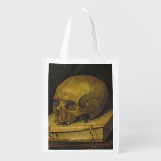 Vanitas, c.1644 (oil on canvas) reusable grocery bags