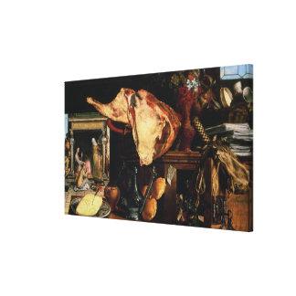 Vanitas still life , 1552 canvas print