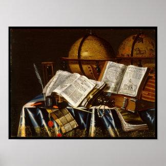 """Vanitas"" Still Life - Adam Bernaert (1665) Poster"