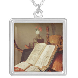 Vanitas Still Life Silver Plated Necklace