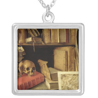 Vanitas with a Sundial, c.1626-40 Silver Plated Necklace
