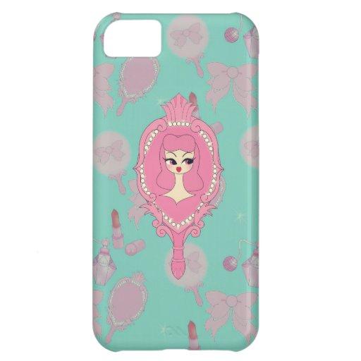 Vanity Blue Mirror Girl iPhone 5 Phone Case iPhone 5C Covers