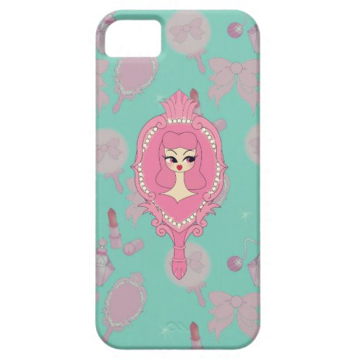 Vanity Blue Mirror Girl iPhone 5 Phone Case iPhone 5 Cases
