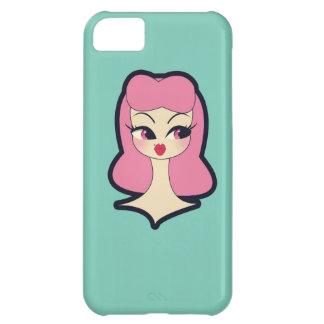 Vanity Blue Pink Hair Girl iPhone 5 Phone Case iPhone 5C Cases