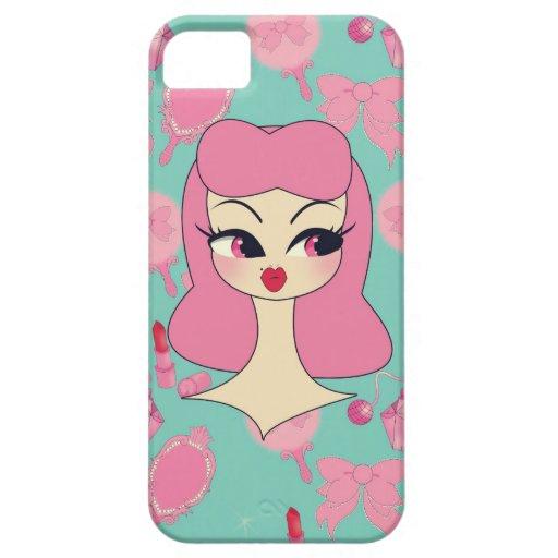 Vanity Blue Pink Hair Girl iPhone 5 Phone Case iPhone 5 Cases