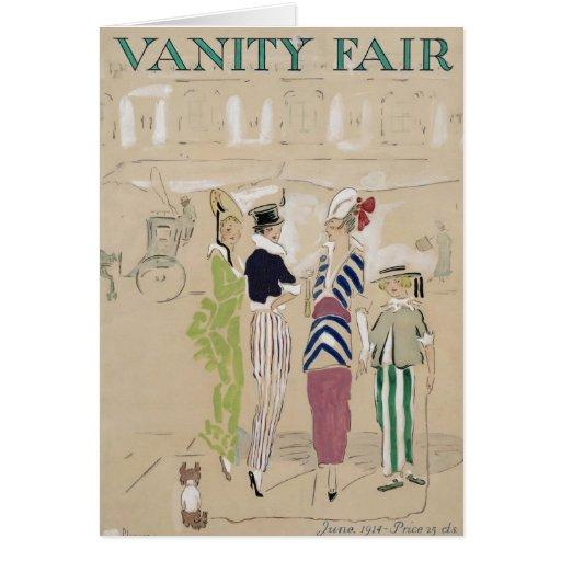 Vanity Fair 1914 Greeting Card