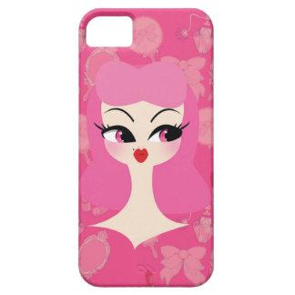 Vanity Pink Hair Girly iPhone 5 Phone Case