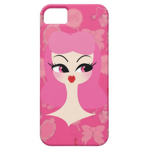 Vanity Pink Hair Girly iPhone 5 Phone Case iPhone 5 Case
