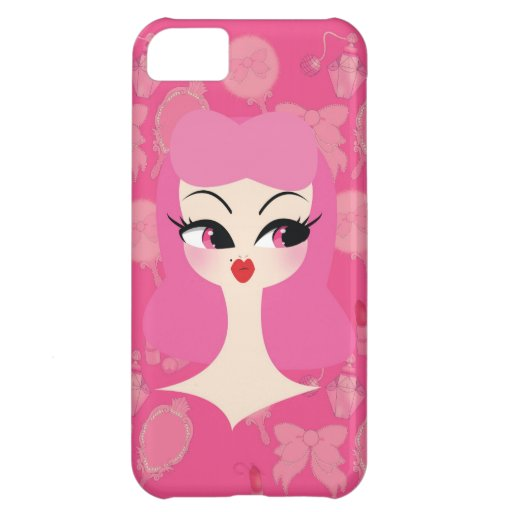 Vanity Pink Hair Girly iPhone 5 Phone Case iPhone 5C Cases