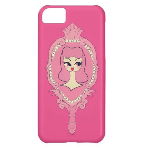 Vanity Pink Hair Mirror iPhone 5 Phone Case iPhone 5C Covers