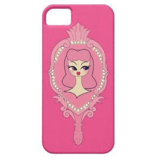 Vanity Pink Hair Mirror iPhone 5 Phone Case