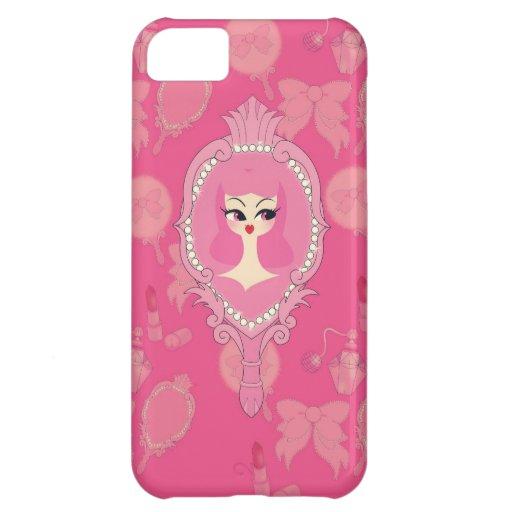 Vanity Pink Mirror Girl iPhone 5 Phone Case iPhone 5C Cases