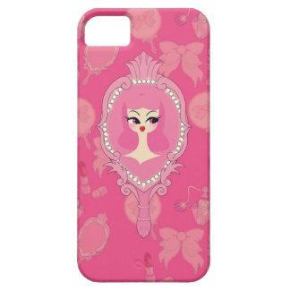 Vanity Pink Mirror Girl iPhone 5 Phone Case