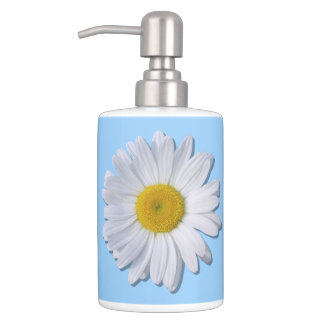 Vanity Set - New Daisy on Blue
