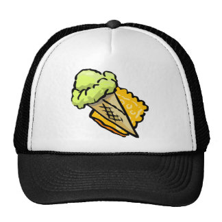 Vannilla ice cream mesh hat
